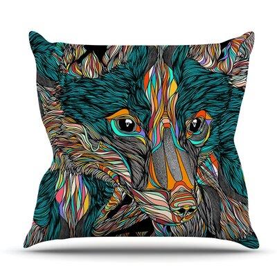 Fox by Danny Ivan Outdoor Throw Pillow