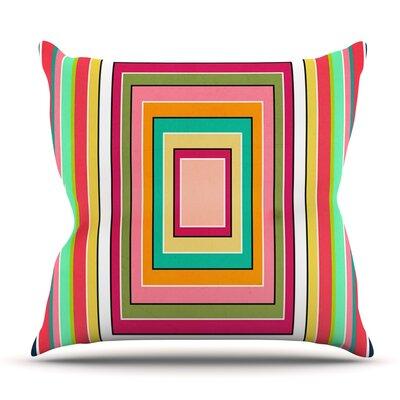 Floor Pattern by Danny Ivan Outdoor Throw Pillow