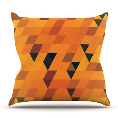 Gold Pattern by Danny Ivan Outdoor Throw Pillow