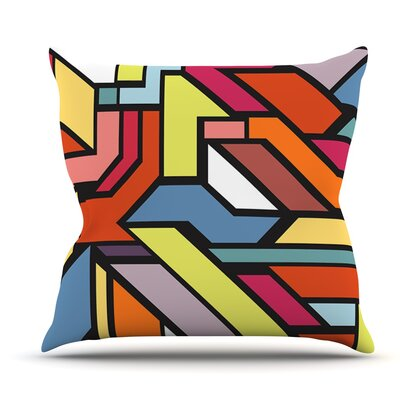 Abstract Shapes by Danny Ivan Outdoor Throw Pillow
