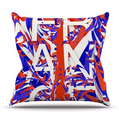 France by Danny Ivan Outdoor Throw Pillow