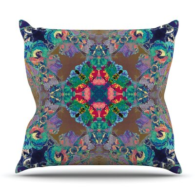 Flowery by Danii Pollehn Outdoor Throw Pillow