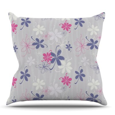Lively Blossoms by Emma Frances Outdoor Throw Pillow