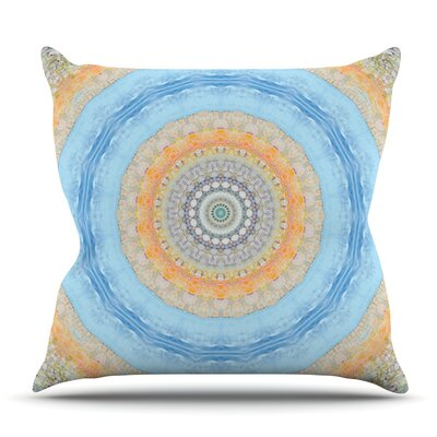Summer Mandala by Iris Lehnhardt Outdoor Throw Pillow