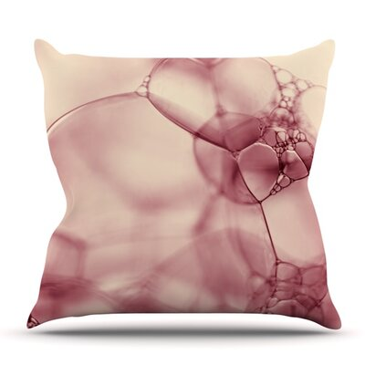 Bubbles by Ingrid Beddoes Outdoor Throw Pillow