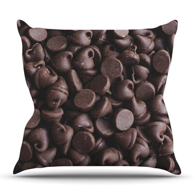 Yay! Chocolate by Libertad Leal Outdoor Throw Pillow