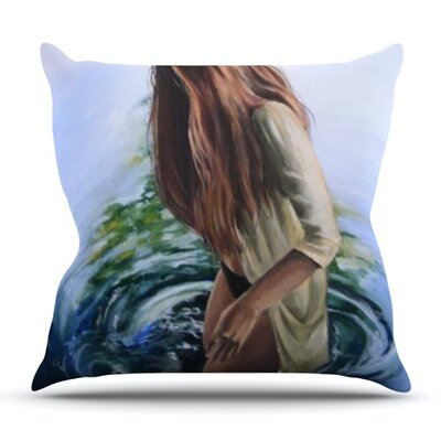 Knee Deep by Lydia Martin Outdoor Throw Pillow