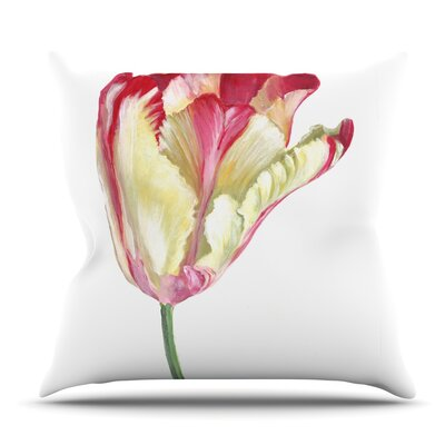 Tip Tulip by Lydia Martin Outdoor Throw Pillow