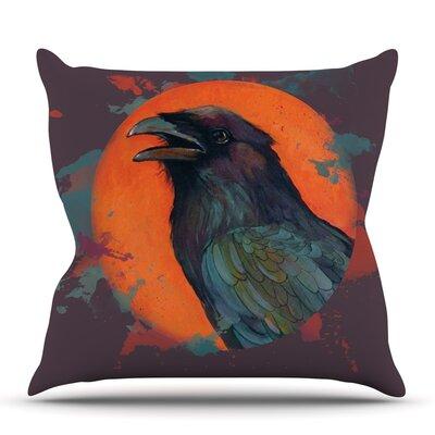 Raven Sun Alternate by Lydia Martin Outdoor Throw Pillow