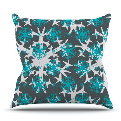 Tree Snow Flakes by Miranda Mol Outdoor Throw Pillow