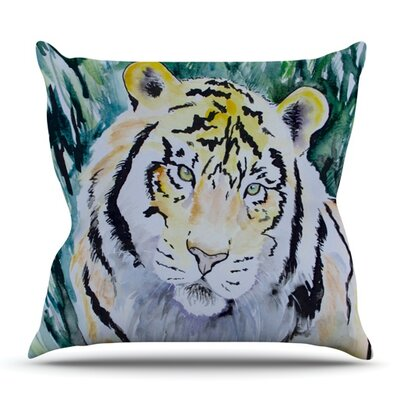 Tiger by Padgett Mason Outdoor Throw Pillow