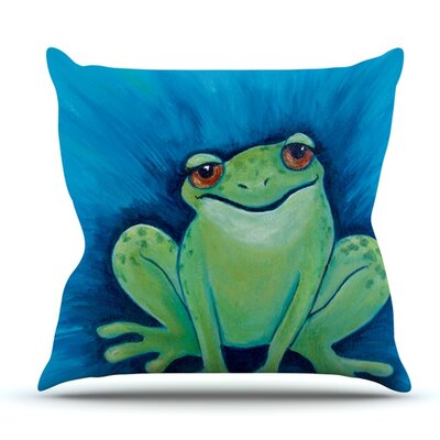 Ribbit Ribbit by Padgett Mason Outdoor Throw Pillow