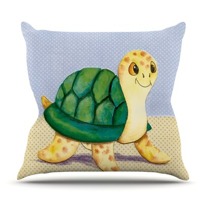 Slow and Steady by Padgett Mason Outdoor Throw Pillow