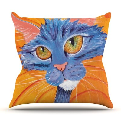 Tell Me More by Padgett Mason Outdoor Throw Pillow