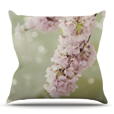 Cherry Blossom by Catherine McDonald Outdoor Throw Pillow