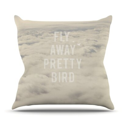 Fly Away Pretty Bird by Catherine McDonald Outdoor Throw Pillow
