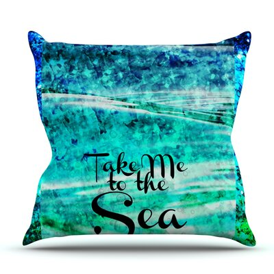 Take Me to the Sea by Ebi Emporium Outdoor Throw Pillow