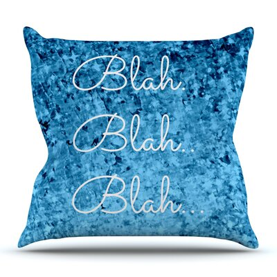 Blah Blah Blah by Ebi Emporium Outdoor Throw Pillow