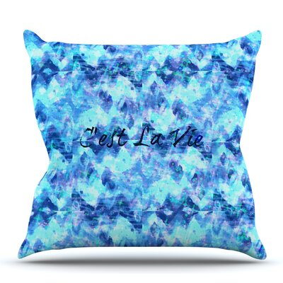Cest La Vie Revisited by Ebi Emporium Outdoor Throw Pillow