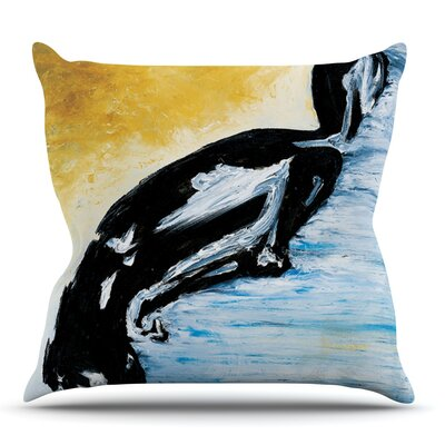 Hangin 10 by Josh Serafin Outdoor Throw Pillow