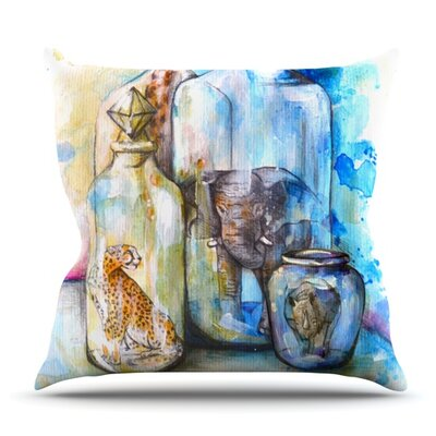 Bottled Animals by Kira Crees Outdoor Throw Pillow