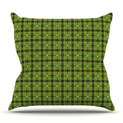 Floral by Matthias Hennig Outdoor Throw Pillow