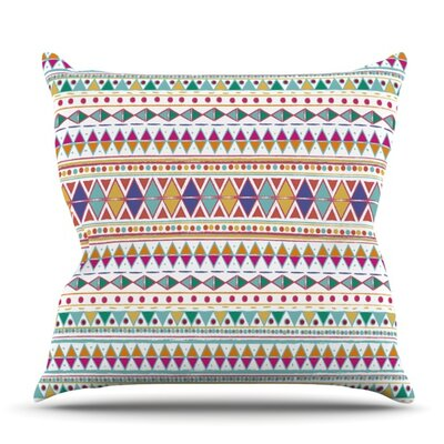 Native Fiesta by Nika Martinez Outdoor Throw Pillow