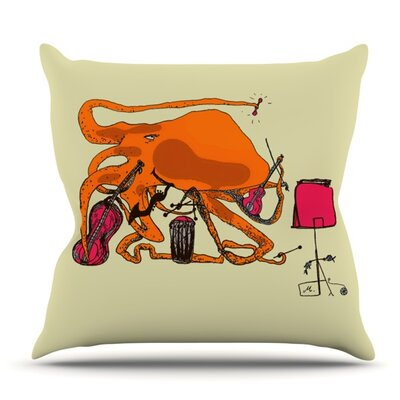 Playful Octopus by Marianna Tankelevich Outdoor Throw Pillow