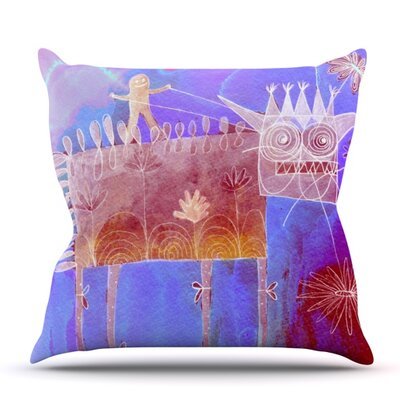 Scary Song About Love by Marianna Tankelevich Outdoor Throw Pillow