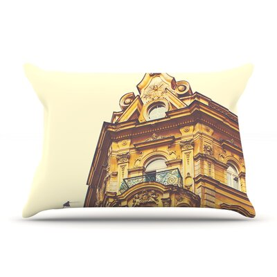 Prague Morning by Ann Barnes Cotton Pillow Sham, Building