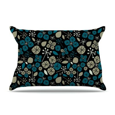 Leaf Scatters Midnight by Allison Beilke Cotton Pillow Sham