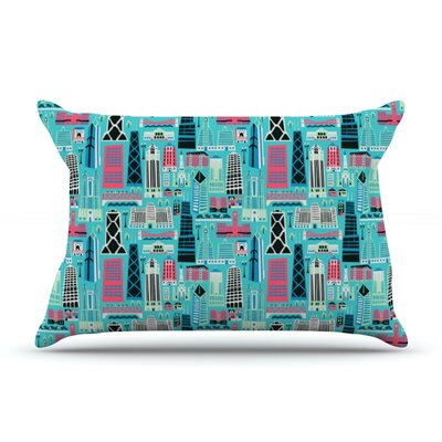 My Kind of Chicago by Allison Beilke Cotton Pillow Sham