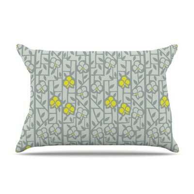 Deco Orchids by Allison Beilke Cotton Pillow Sham