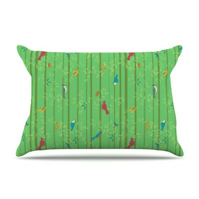 Hello Birdies by Allison Beilke Cotton Pillow Sham