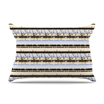 Nautical Breeze Sandy Stripes by Mydeas Cotton Pillow Sham