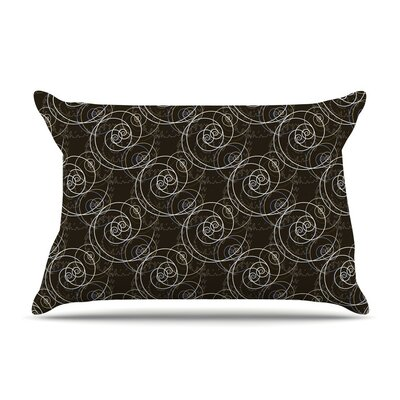 Nautical Breeze Spiral Swirls by Mydeas Featherweight Pillow Sham