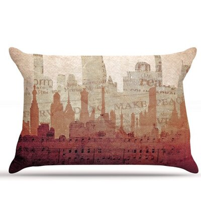 City by Alison Coxon Featherweight Pillow Sham, Warm