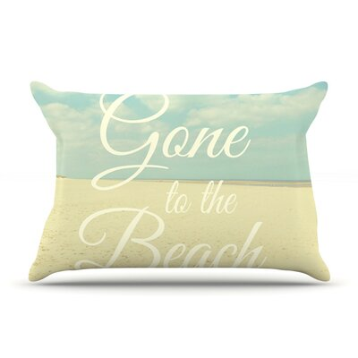 Gone To The Beach by Alison Coxon Cotton Pillow Sham