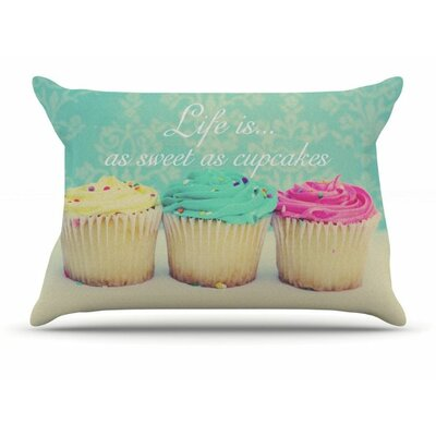 Life Is As Sweet As Cupcakes by Beth Engel Featherweight Pillow Sham