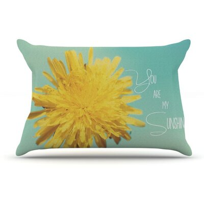 You are My Sunshine by Beth Engel Flower Featherweight Pillow Sham