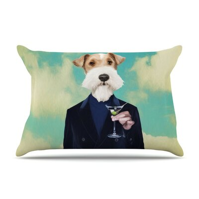 Passenger 8F Schnauzer by Natt Cotton Pillow Sham