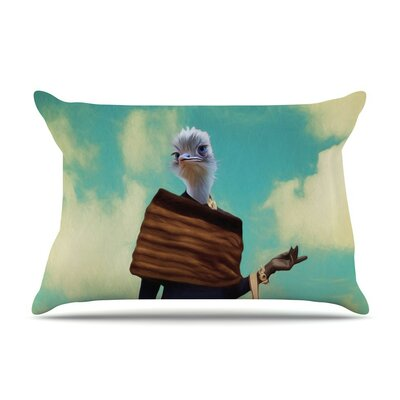 Passenger 1A by Natt Ostrich Cotton Pillow Sham