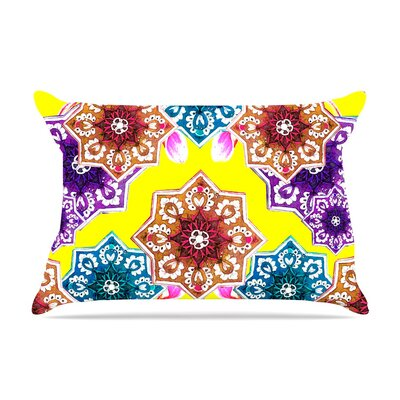 Flower Power by Fernanda Sternieri Floral Cotton Pillow Sham