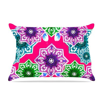 Flower Power In by Fernanda Sternieri Cotton Pillow Sham