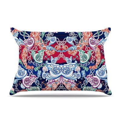 Barroque Sea Abstract by Fernanda Sternieri Cotton Pillow Sham