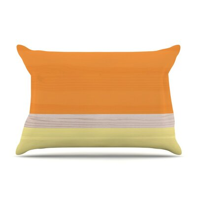 Tangerine Custard Cotton Pillow Sham