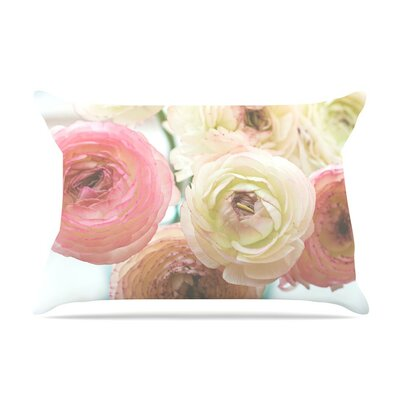 Pastel Ranunculus by Debbra Obertanec Cotton Pillow Sham