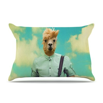 Passenger 1B by Natt Llama Cotton Pillow Sham
