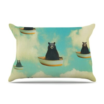 Bears Floating Animals by Natt Cotton Pillow Sham