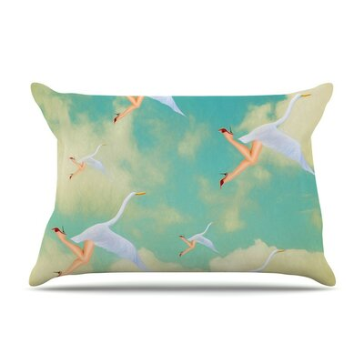 Swan by Natt Cotton Pillow Sham